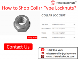 How to Shop Collar Type Locknuts? - Classified Ad
